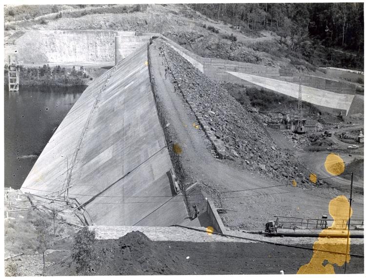 Borumba Dam building 1960-1964 - spillway - donated by Keith Buchanan