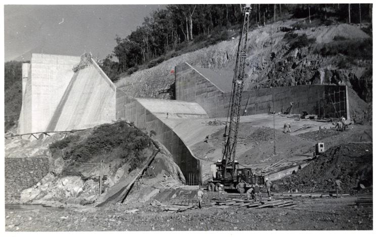 Borumba Dam construction 1960-1964 - base of the spillway - donated by Keith Buchanan