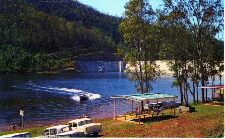 Borumba Dam postcard c1964 - donated by Ian Stehbens