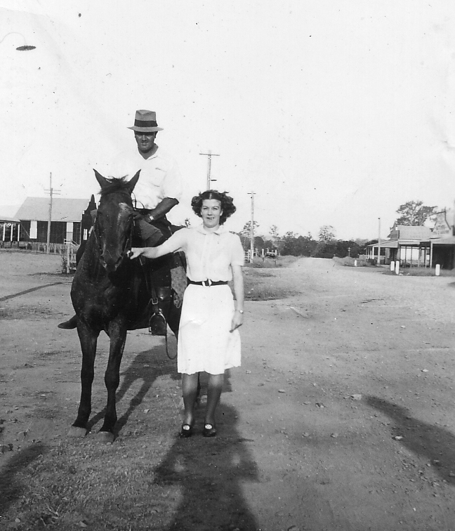 Doris and father Roy in Yabba Road - donated by Pam Hopkins