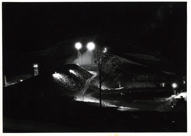 Night shift during Borumba Dam construction 1960-1964 - donated by Keith Buchanan