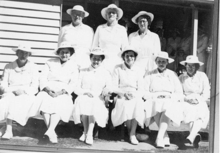 First members of ladies bowls club, Kandanga - Gympie Regional Libraries