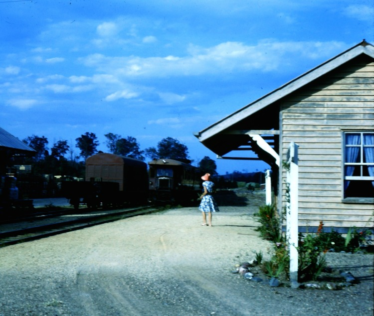 Amamoor Railway Station, ca 1970 - photograph by John Kington - John Oxley Library, State Library of Queensland