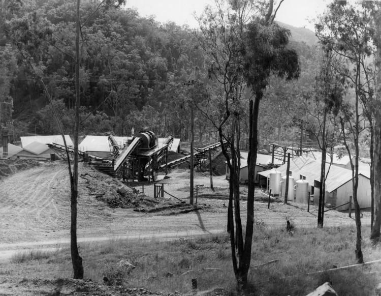 Borumba Dam on Yabba Creek, ca 1970 (built 1960-1964) - Thiel Photographers, Brisbane - Keith Waser collection