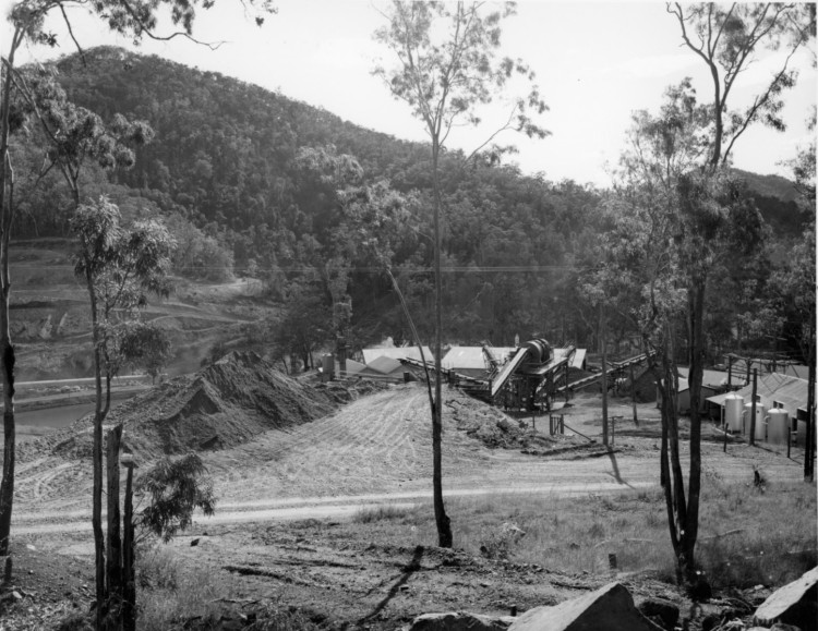 Borumba Dam on Yabba Creek, ca 1970 (built 1960-1964), Thiel Photographers, - Keith Waser collection