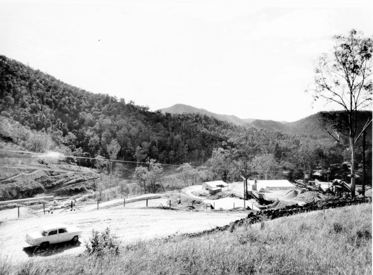 Borumba Dam under construction - John Oxlery Library, State Library of Queensland #34844