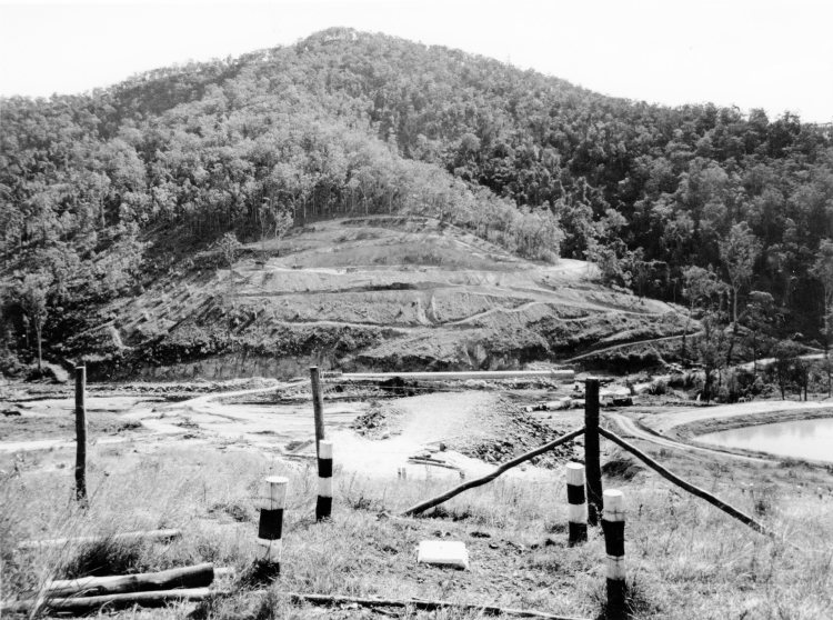 Borumba Dam under construction - John Oxley Library, State Library of Queensland #344841