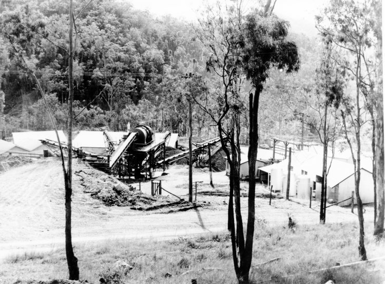 Borumba Dam under construction - John Oxley Library, State Library of Queensland #34843