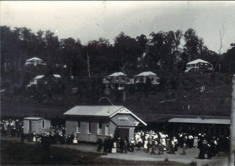 Imbil Railway Station - early 1900s - possible special train fro the Mary Valley Show - donated by Kaili Parker-Price