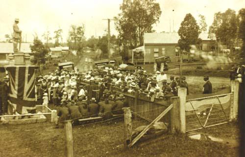 Opening Kandanga War Memorial 1920 - Gympie Regional Libraries
