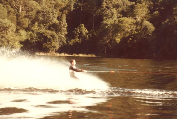 Skiing on Borumba Dam - mid 1980s - donated by Kaili Parker-Price