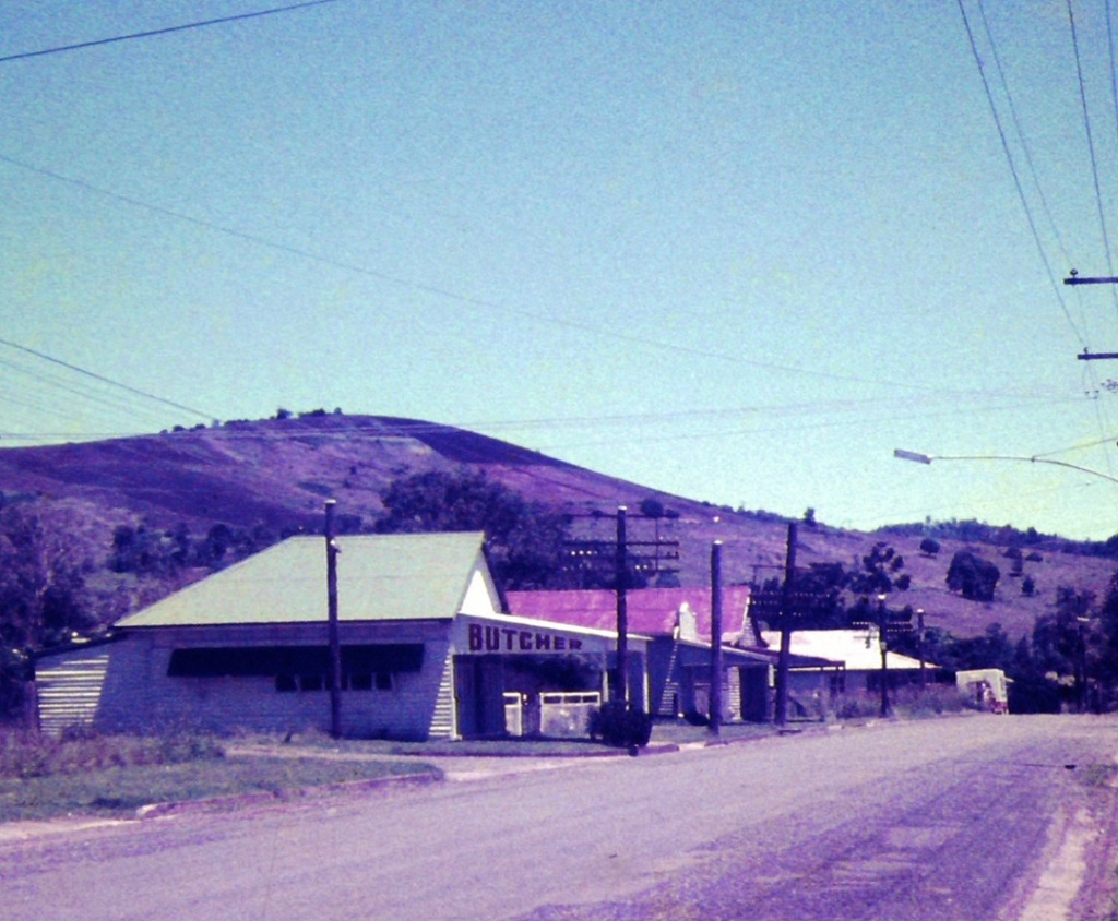 Street in Amamoor, ca1970 - John Oxley Library, State Library of Queensland, Photograph taken by John Kington
