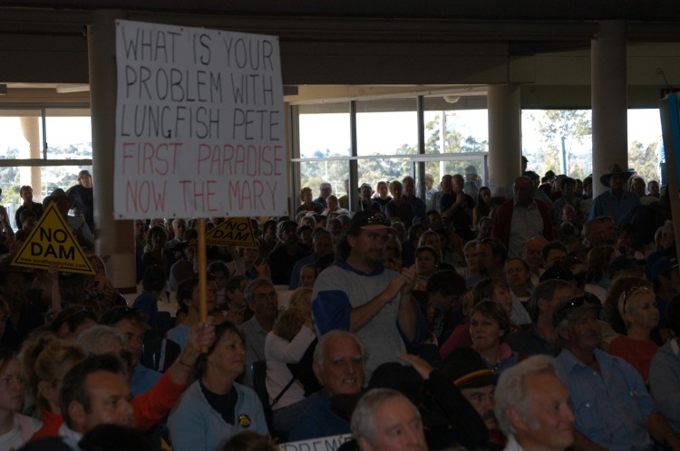Traveston Dam protest - July 2006 - Gympie Times collection