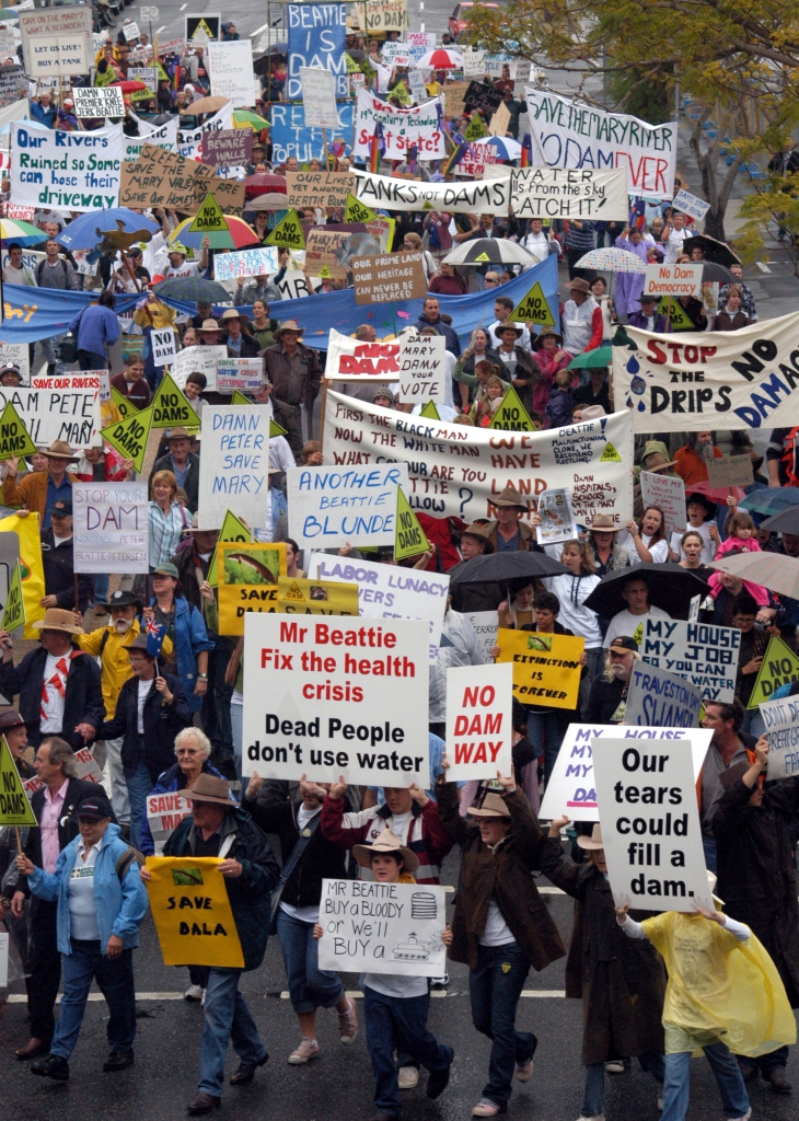 No Dam Rally in Brisbane - Gympie Times collection