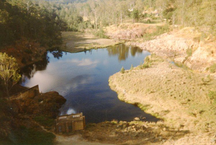 View below Borumba Dam - 1996 - Gympie Regional Libraries