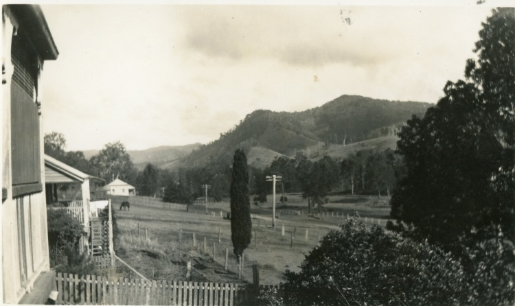 Mount Grainger from R. G. Stehbens' verandah, Yabba Road, Imbil. Taken by Jean, visitor.